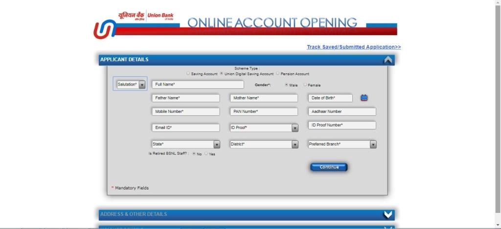 union bank zero balance account