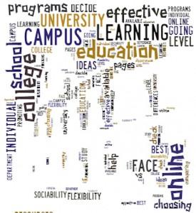 online-campus word cloud