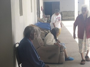 elderly people in a care facility