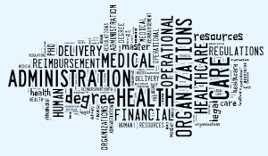 health admin word cloud