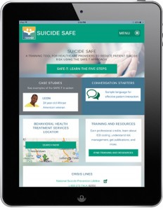 Suicide Safe app on smart phone