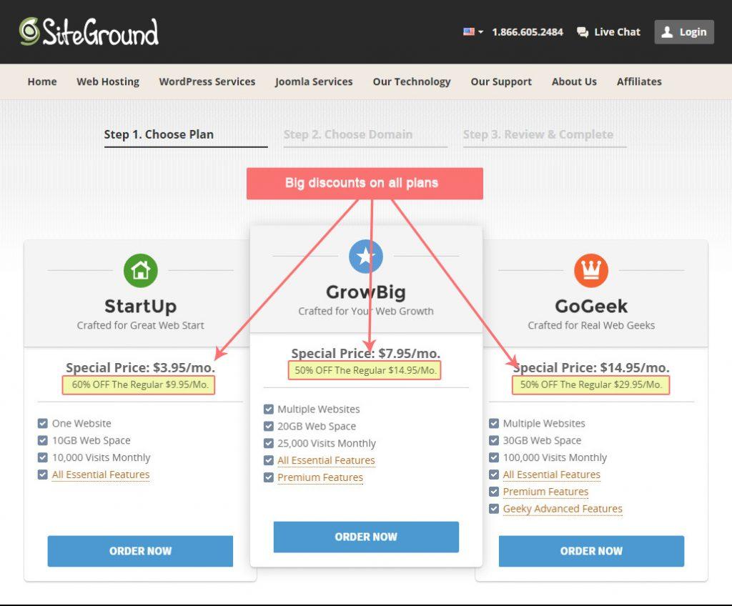 hosting signup step1