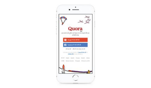 Quora the Q&A Platform launches its Hindi Version for