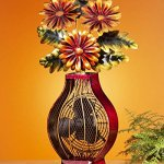 24-Exquisite-Flower-Bouquet-in-Vase-Table-Top-Figure-Fan-0