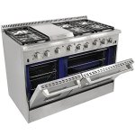 48-6-Burner-Gas-Range-With-Double-Oven-and-Griddle-0-0