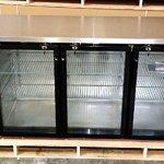 72-Commercial-3-Door-Back-Bar-Beer-Bottle-Beverage-Can-Cooler-Refrigerator-Black-with-Stainless-Steel-Top-and-Glass-Doors-0