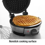 All-Clad-99012GT-Stainless-Steel-Classic-Round-Waffle-Maker-with-7-Browning-Settings-4-Section-Silver-0-0