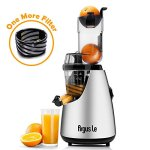 Argus-Le-Masticating-Juicer-Whole-Slow-Juicer-3inches75MM-Wide-Feed-Chute-Easy-Cleaning-Auger-Energy-Saving-150W-DC-Motor-Fruit-and-Vegetable-Juice-Extractor-with-Two-Filters-and-Recipe-Book-0