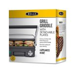 BELLA-4-in-1-Contact-Grill-Griddle-and-Panini-Maker-Combo-Stainless-Steel-and-Black-14464-0-1