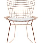 Bertoria-Rosegold-Wire-Dining-Chair-White-Seat-0