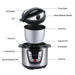 Blusmart-CR-26A-7-in-1-Multi-Functional-Electric-Pressure-Cooker-Multi-Use-Programmable-6Qt-1000W-Cooker-Stainless-Steel-0-1