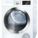 Bosch-800-Series-White-Front-Load-Compact-Laundry-Pair-with-WAT28402UC-24-Washer-WTG86402UC-24-Electric-Condensation-Dryer-and-2-WMZ20490-Pedestals-0-1