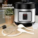 COSORI-7-in-1-Multifunctional-Programmable-Pressure-Cooker-Rice-Cooker-Slow-Cooker-with-Glass-Lid-Extra-Sealing-Ring-and-Recipe-Book-6-Quart1000W-0-0