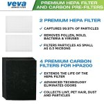 Complete-2-Premium-True-HEPA-Replacement-Filter-Pack-Including-4-Activated-Carbon-Pre-Filters-Precut-for-HPA200-compatible-with-HW-Air-Purifier-200-202-204-250B-and-Filter-R-by-VEVA-0-0