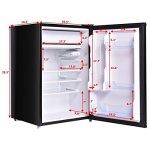 Costway-43-cu-ft-Compact-Mini-Door-Mini-Refrigerator-Freezer-Cooler-Stainless-SteelBlack-0-1