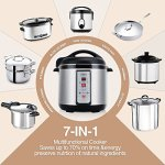 Cusimax-8-Quart-7-in-1-Multi-Use-Programmable-Pressure-Cooker-Stainless-Steel-Pot-CMPC-130-1300WBlack-0-1