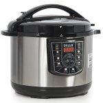 DELLA-048-GM-48237-10-quart-1400W-8-in-1-Programmable-Electric-Pressure-Cooker-Silver-Small-0