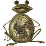 DecoBREEZE-Green-Frog-Figurine-Fan-Two-Speed-Electric-Circulating-Fan-0