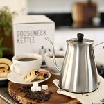 Electric-Gooseneck-Kettle-with-Variable-Temperature-Control-1L-Electric-Teapot-Drip-Kettle-with-Digital-Base-Stainless-Steel-Coffee-Kettle-and-Electric-Pour-Over-Tea-Pot-0-1
