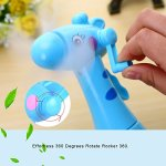 GOUP-2-PACK-Summer-Four-Soft-Fan-Blades-Spray-Water-Fans-Strong-Wind-Hand-Mini-Fans-Children-and-Adult-Portable-Creative-Handheld-Fan-Cute-Cartoon-Fans-for-Home-and-Outdoor-0-2