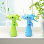 GOUP-2-PACK-Summer-Four-Soft-Fan-Blades-Spray-Water-Fans-Strong-Wind-Hand-Mini-Fans-Children-and-Adult-Portable-Creative-Handheld-Fan-Cute-Cartoon-Fans-for-Home-and-Outdoor-0