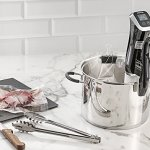 Gourmia-GSV140-Immersion-Sous-Vide-Pod-1200-Watts-2nd-Generation-Circulator-Precision-Cooker-Ergonomic-Sleek-Designed-Digital-View-While-Cooking-5-gallons-Includes-Gourmet-Recipe-Book-0-0