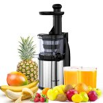 Homgeek-Masticating-Juicer-Extractor-Slow-Juicer-MachineCold-Press-Juicer-with-Juice-Jug-and-Cleaning-Brush-for-High-Nutritional-Fruit-and-Vegetable-Juice-0