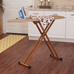 Household-Essentials-801454-Ironing-Board-with-Bamboo-Legs-and-Polyester-Mesh-Cover-0-0