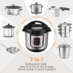 Housmile-6-Quart-7-in-1-Multi-Use-Programmable-Electric-Pressure-Cooker-Digital-Non-Stick-Stainless-Steel-Steam-Slow-Cooker-1000W-0-0