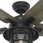 Hunter-Fan-54-Weathered-Zinc-Outdoor-Ceiling-Fan-with-a-Clear-Glass-LED-Light-Kit-and-Remote-Control-5-Blade-Certified-Refurbished-0-1