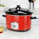Kalorik-Cooker-Kalorik-Red-8-Qt-Digital-Slow-Cooker-with-Locking-Lid-0-1