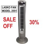 LASKO-FAN-Model-2551-42-Tower-Fan-with-All-NEW-FRESH-AIR-IONIZER-and-Widespread-Osccilation-with-Multiple-Speeds-Built-In-Timer-Remote-Control-Included-0
