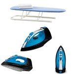 Neatfreak-Table-Top-Iron-Board-Blue-and-Sunbeam-Steam-Master-Iron-with-Retractable-Cord-GCSBCL-202-000-0