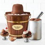 Nostalgia-ICMW400-4-Quart-Wood-Bucket-Ice-Cream-Maker-with-Easy-Carry-Handle-0-0