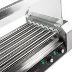 Olde-Midway-Electric-18-Hot-Dog-7-Roller-Grill-Cooker-Machine-900-Watt-with-Cover-Commercial-Grade-0-2
