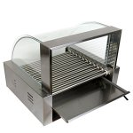 Ridgeyard-2200W-Electric-Commercial-30-Hotdog-Maker-11-Roller-Grilling-Warmer-Cooker-Machine-with-Cover-0-2