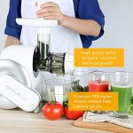 SimpleTaste-Electric-Masticating-Juicer-Extractor-Slow-Juicer-for-High-Nutrient-Fruit-and-Vegetable-Juice-White-0-2