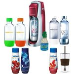 SodaStream-Fountain-Jet-Soda-Maker-Exclusive-Kit-Includes-4-Bottles-Mini-CO2-Eco-First-24-Oz-To-Go-Cup-Pink-Grapefruit-and-Berry-Waters-Zeros-and-Xstream-Energy-Drink-Mixes-0