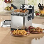T-fal-FF492D-Stainless-Steel-12-Liter-Oil-Capacity-Adjustable-Temperature-Mini-Deep-Fryer-with-Removable-Lid-066-Pound-Silver-0