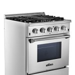 Thorkitchen-HRD3088U-30-Freestanding-Professional-Style-Dual-Fuel-Range-with-42-cu-ft-Oven-4-Burners-Convection-Fan-Stainless-Steel-0-0