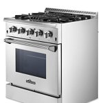 Thorkitchen-HRD3088U-30-Freestanding-Professional-Style-Dual-Fuel-Range-with-42-cu-ft-Oven-4-Burners-Convection-Fan-Stainless-Steel-0-1