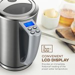 VAVA-Electric-Kettle-Temperature-Control-Water-Kettle-Stainless-Steel-Cordless-Tea-Kettle-with-LCD-Display-BPA-Free-Build-Keep-Warm-Function-Strix-Control-FDA-Certified17-Liter-0-0