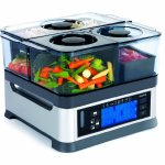 Viante-CUC-30ST-Intellisteam-Counter-Top-Food-Steamer-with-3-Separate-Compartments-0