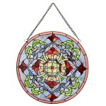 Warehouse-of-Tiffany-Fineena-Stained-glass-20-inch-Window-Panel-with-Hanging-Chain-0