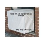 Window-Air-Conditioner-Cover-Windowthru-Wall-2PC-SET-OutdoorIndoor-27W-18H-22D-and-27W-18H-4D-White-0