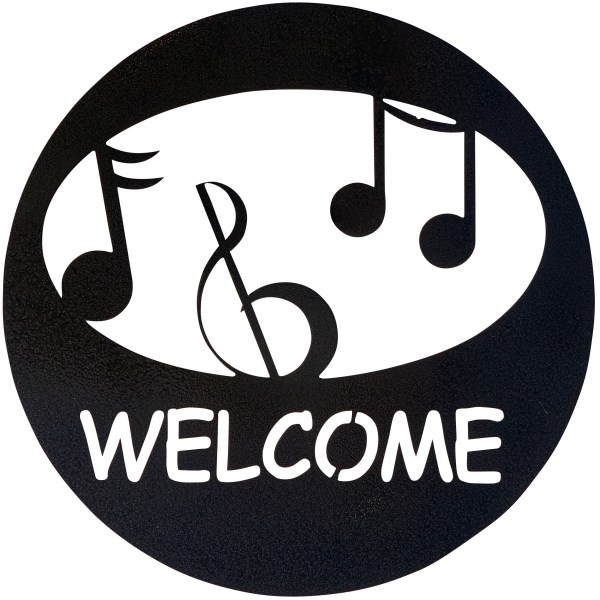 welcome-circle-music-hammered-black