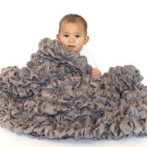 Gray Designer Crib Throw Albrea