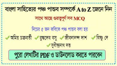 5 Special Writer in Bengali Literature | BCS Bangla Preparation | www.itmona.com
