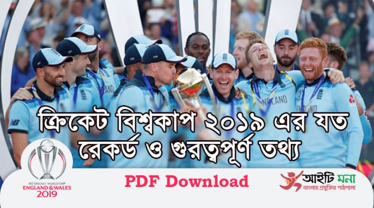 World Cup Cricket Team Records & Stats 2019