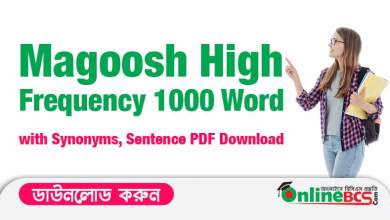 Magoosh High Frequency 1000 Word with Synonyms, Sentence PDF Download